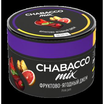 Chabacco Mix Pink jam (Фруктово-ягодный джем) Medium 50 г. Смесь для кальяна купить в Минске