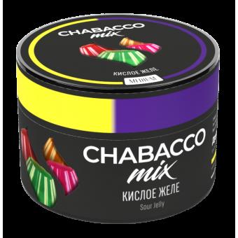 Chabacco Mix Sour jelly (Кислое желе) Medium 50 г. Смесь для кальяна купить в Минске