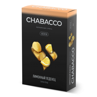 Chabacco - Lemon Drop (Лимонный леденец) - Ярко выраженный аромат и кисло-сладкий вкус лимонных карамелек Medium 50 г. Смесь для кальяна купить в Минске