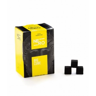 Уголь кокосовый Nero 25мм (упаковка по 72 кубика), Россия