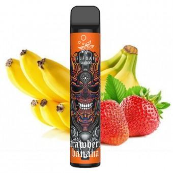 Elf Bar 1500 Lux - Strawberry Banana - Клубника банан. Одноразовый электронный испаритель (парогенератор)