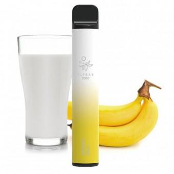 Elf Bar 2000 (до 2000 затяжек) - Banana Milk - Банановое молоко. Одноразовый электронный испаритель (парогенератор)