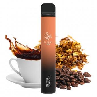 Elf Bar 2000 (до 2000 затяжек) - Coffee Tobacco - Кофейный табак. Одноразовый электронный испаритель (парогенератор)