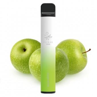 Elf Bar 2000 (до 2000 затяжек) - Sour Apple - Кислое яблоко. Одноразовый электронный испаритель (парогенератор)