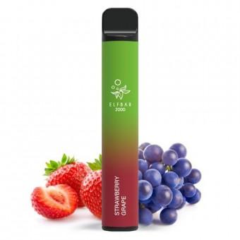 Elf Bar 2000 (до 2000 затяжек) - Strawberry Grape - Клубника виноград. Одноразовый электронный испаритель (парогенератор)