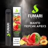 Fumari 800 - Манго Персик Арбуз. Одноразовый электронный испаритель (парогенератор)