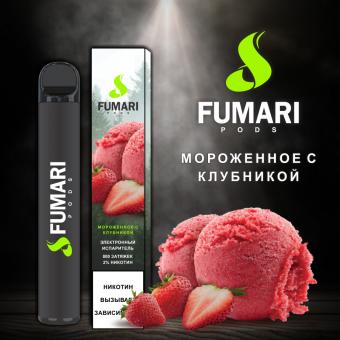 Fumari Pods 800 - Мороженное с клубникой. Одноразовый электронный испаритель (парогенератор)
