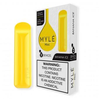 MYLE Mini Ледяной Банан 50мг, 2 шт. Одноразовый электронный испаритель (парогенератор)