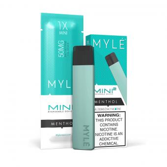 MYLE Mini 2 Ментол 50мг. Одноразовый электронный испаритель (парогенератор)