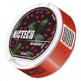 Жевательная смесь NICTECH BARBERRY (снюс). 60мг