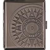 Портсигар Compass 602621 металлический, хром, Китай